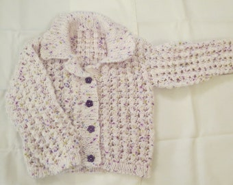 """Cardigan  Baby Child Toddler Hand Knitted 22"""" Jacket"""