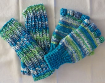 Gloves Wrist Warmers Hand Knitted Fingerless  Mittens