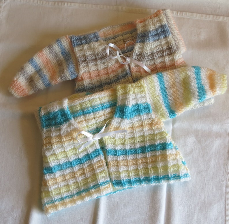Baby Childs  Cardigan Hand Knitted 12 months