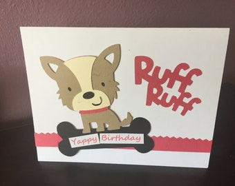 Handmade Birthday CardGreeting Cardsbirthday Card Childrens Dog Themed Yappy CardCards