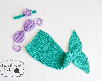 Crochet Baby Mermaid Etsy