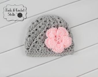 1138c358d80 Crochet flower hat