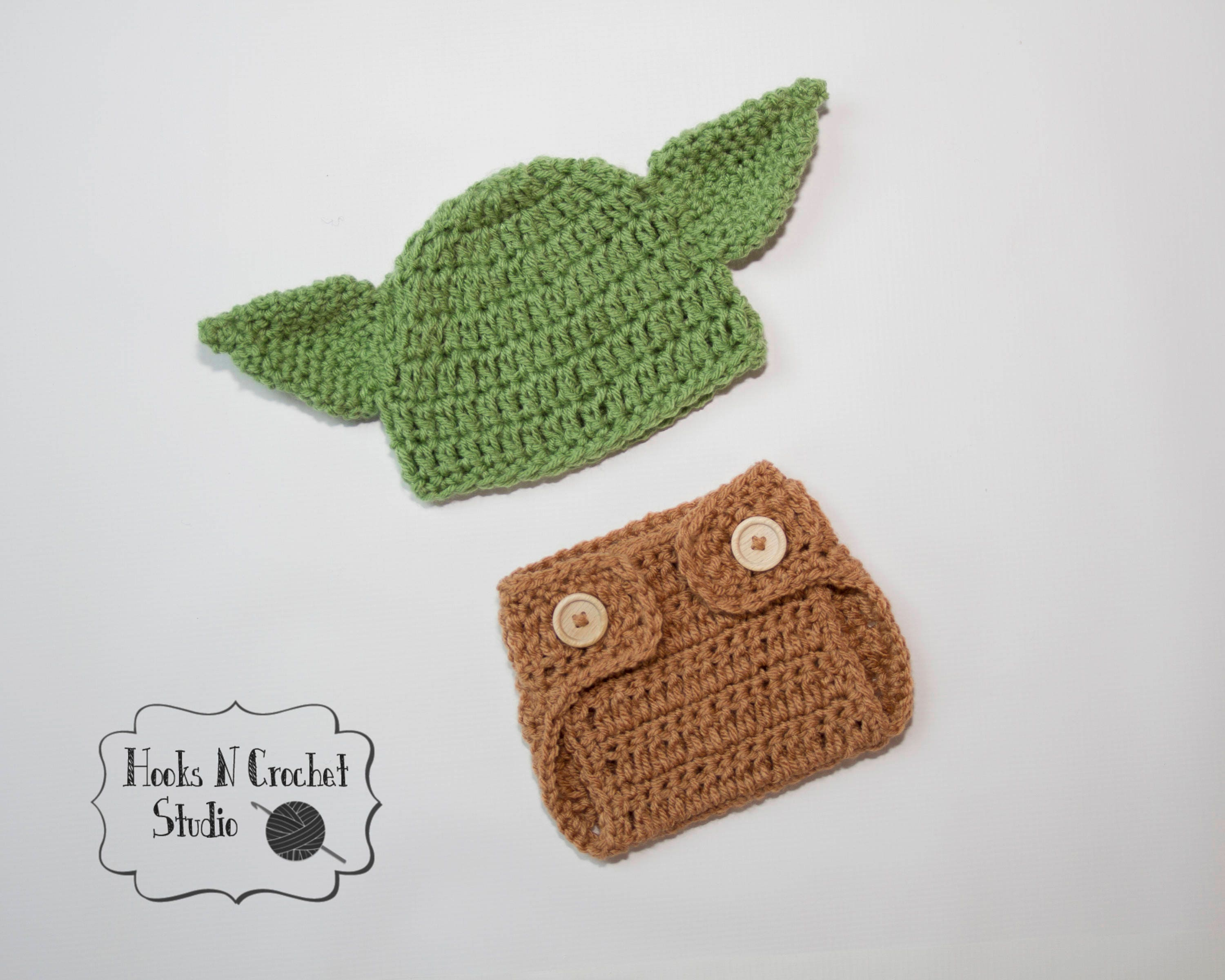 Magnificent Crochet Pattern For Yoda Hat Ornament - Sewing Pattern ...