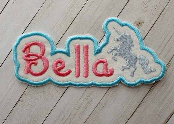 Unicorn Name Patch Personalized Applique Patch Iron on patch