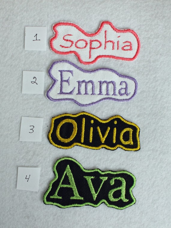 Personalized Name Patch Fabric Patch Iron On Patch Iron On Etsy