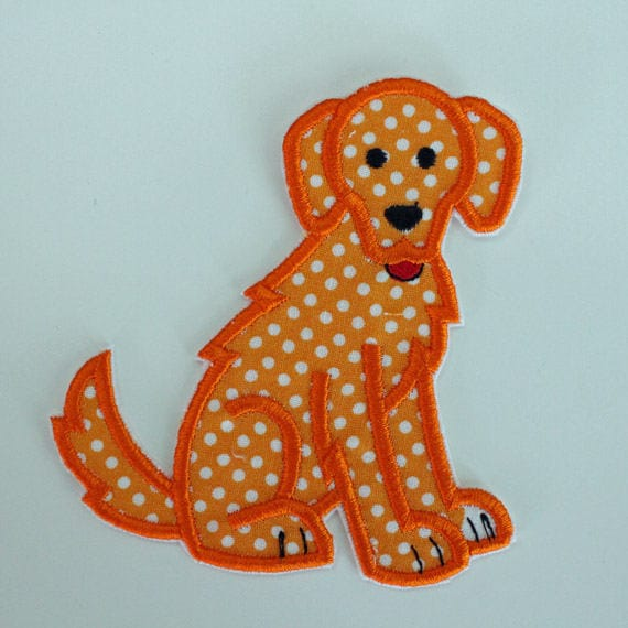 Golden Retriever Iron On Embroidered Patch