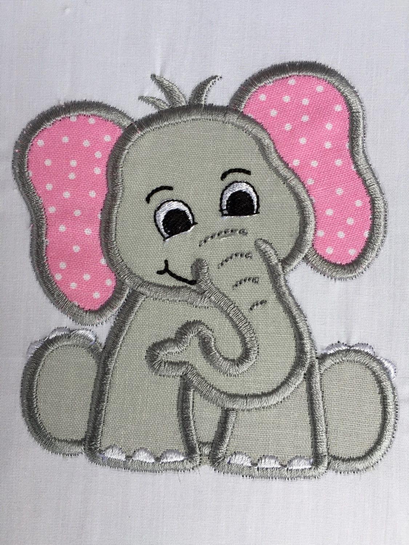 Elephant Patch Elephant Applique Embroidered Elephant Iron   Etsy