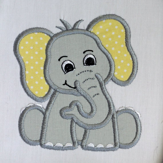 Sew on patch Applique patch Iron on patch Elephant Patch Animal patch