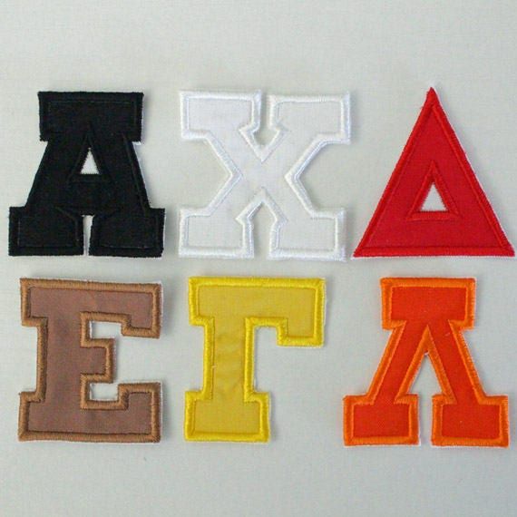 6 inch greek alphabet sorority letters fraternity letters | etsy