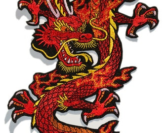 Flying Multi colored Dragon Patch 8/""