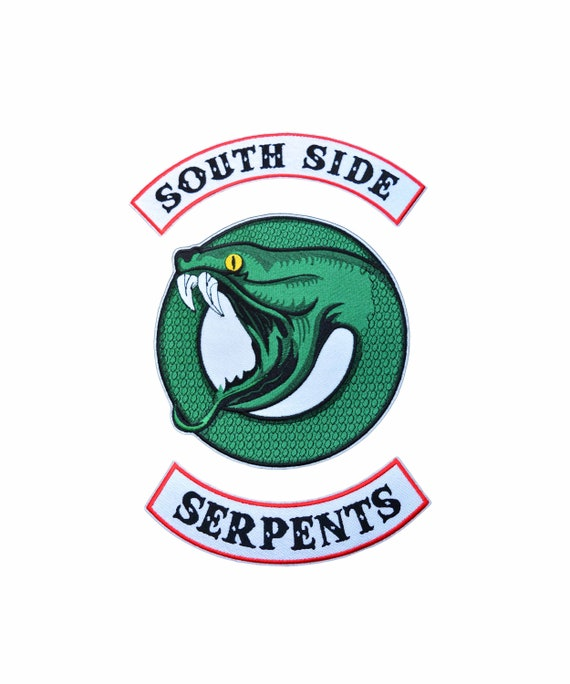 Riverdale Southside Serpent: Riverdale South Side Serpents Inspired Embroidered Patch