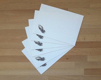 Set of 6 note cards with brown craft envelopes
