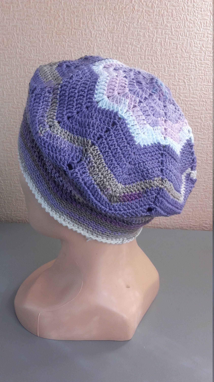 Gehäkelte Mütze aus Baumwolle Hut Sommer Chemo Mütze Baumwolle