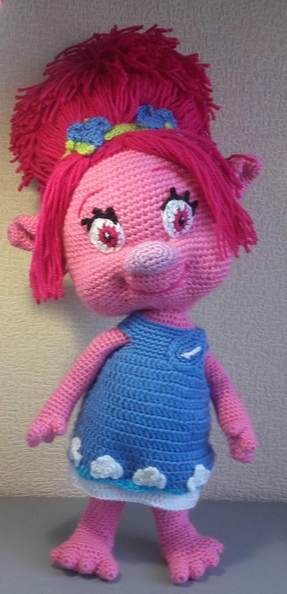 Troll Mohn Crochet Amigurumi Puppe Mohn Prinzessin häkeln | Etsy