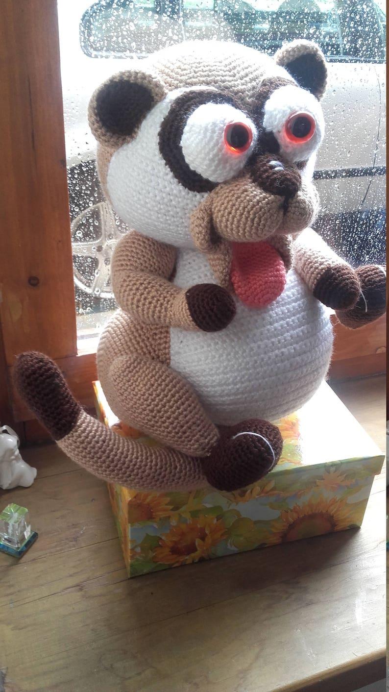 ca 22 cm *Handarbeit* Kuscheltier Eisbär Teddy Stofftier Spielzeug gehäkelt