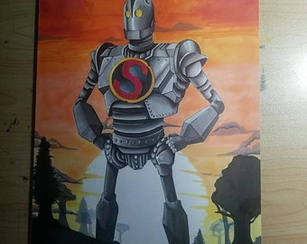 The Iron Giant 9x12 Original
