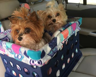 Toby Console Car Seats for small dogs Now in PINK OR BLUE