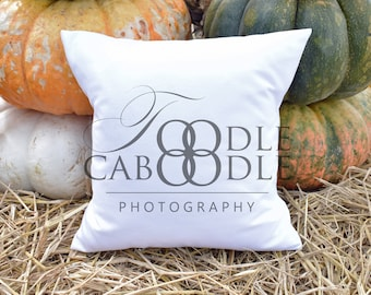 Download Free Styled Stock Photography Thanksgiving Pillow, White Square Pillow Mockup, Big Colorful Pumpkins, Fall Pillow Mock Up, Digital File Mockups PSD Template