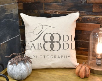 Download Free Styled Stock Photography, Fall Thanksgiving Beige Linen Pillow Mockup, Rustic Industrial Light, Square Pillow Mock Up, Digital File Mockups PSD Template