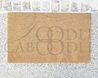 Doormat Mockup, Door Mat Mockup, Brown Doormat, Simple Mat Mock Up, Doormat with grey Brick House, Add Your Design, Add Art, Flat JPEG File