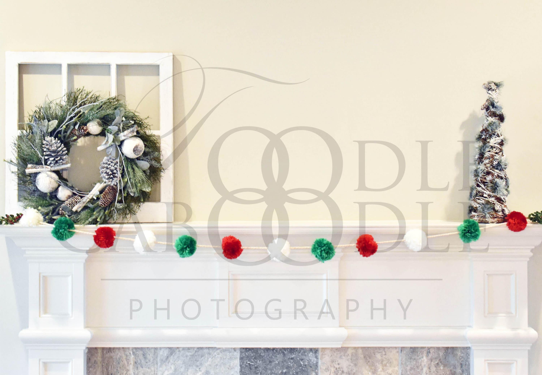 Fatto a mano in Miniatura Casa Delle Bambole Accessorio foto su tela stile le regole di Natale