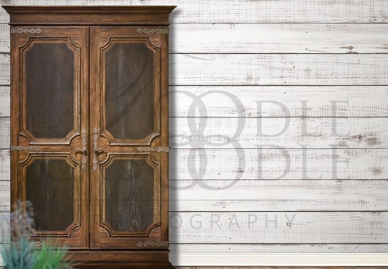Add a Frame Rustic Wood Wall JPEG File Bedroom Mockup Wall Mockup Distressed Shiplap Wall Mockup Add Your Design Large Hutch and Wall