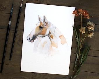 Watercolor Horse Painting, Horse Art, Horse Decor, Horse Painting, Western Decor, Animal Prints, Horseback Riding, Equestrian Prints, Horses
