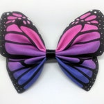 Bi Pride Monarch Butterfly Hairbow - Pretied Bowtie  - fabric insect barrette hair clip decoration