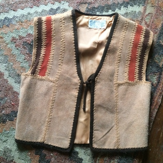 1940s western cowhide vest small size