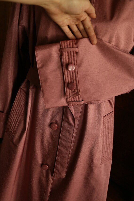 Pink Trench Coat 80s - image 6