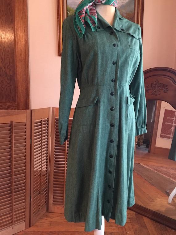 Authentic Vintage Girlscouts junior dress 1940s WW