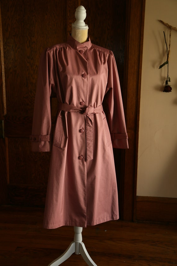 Pink Trench Coat 80s