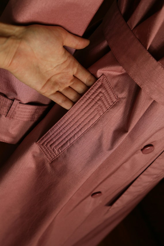Pink Trench Coat 80s - image 4