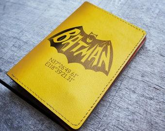 leather passport cover,leather passport holder,passport wallet,passport cover,passport holder batman