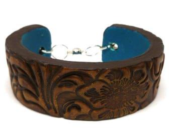 Polymer Clay Faux Wood Cuff Bracelet