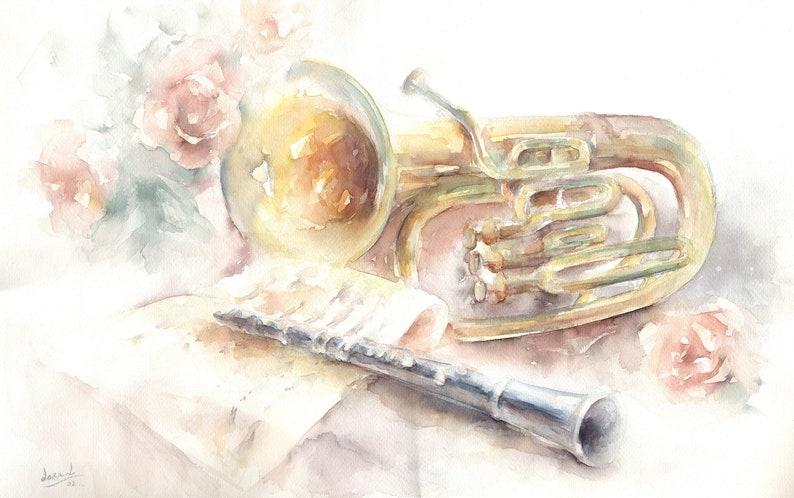 Original Watercolor title MUSICA 216x138. image 0