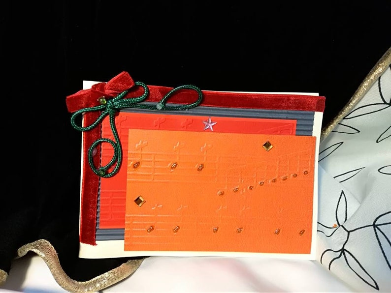 OOAK Christmas card hand made envelope is included size image 0