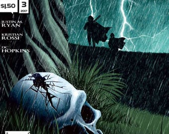 TRESPASSER Issue 3 Newsprint - First Edition by Justin M. Ryan, Kristian Rossi, and DC Hopkins published by Alterna Comics