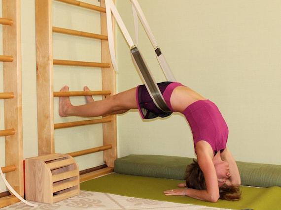 Yoga Wall Pelvic Swing Pelvic Swing Wall Belts Yoga Wall Etsy