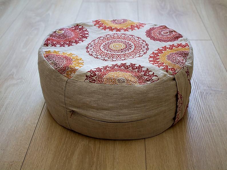 Node Fitness Organic Cotton 15 Round Meditation Cushion