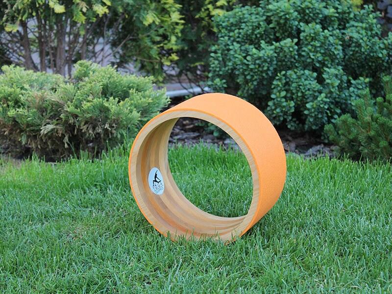 10 Eco Yoga Wheel Wooden Yoga Wheel Wheel Covered With
