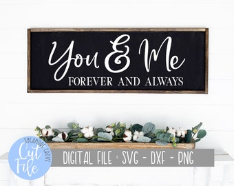 Wedding Gift Anniversary Gift Valentine Gift 3D  wedding sign 3D Sign Bridal Shower Gift You and Me Forever and Always Sign