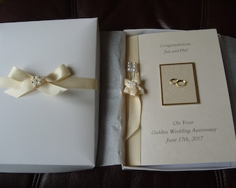 Wedding Card Handmade Boxed and Personalised