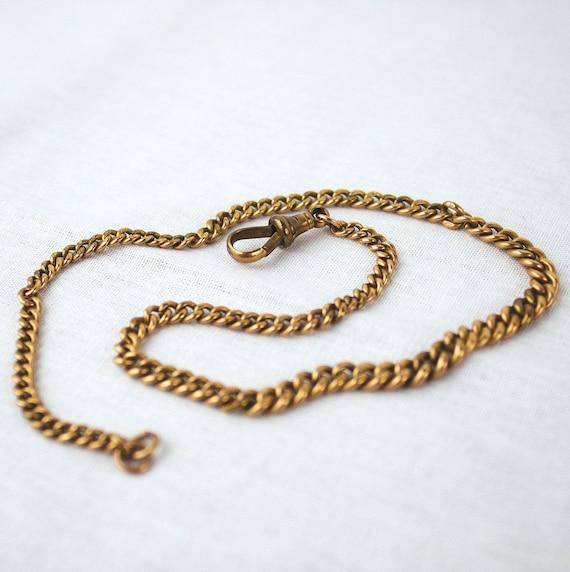 9 375 Hallmarked Gold Victorian Albert Watch Chain 16grams