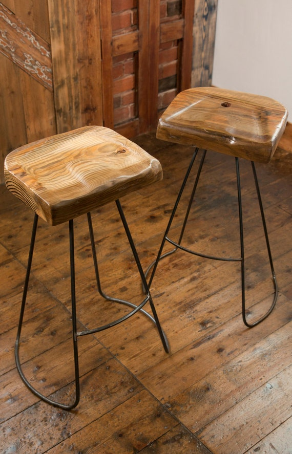 Admirable Handmade Industrial Designed Reclaimed Wood Barstool Lamtechconsult Wood Chair Design Ideas Lamtechconsultcom