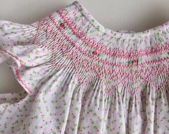 Smocked Easter Dress, Smocked Dress Baby Girl, Smocked Dress Size 2, Smocked Bishop Dress