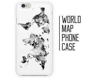 Iphone 6 World Map Case.World Map Phone Case Etsy
