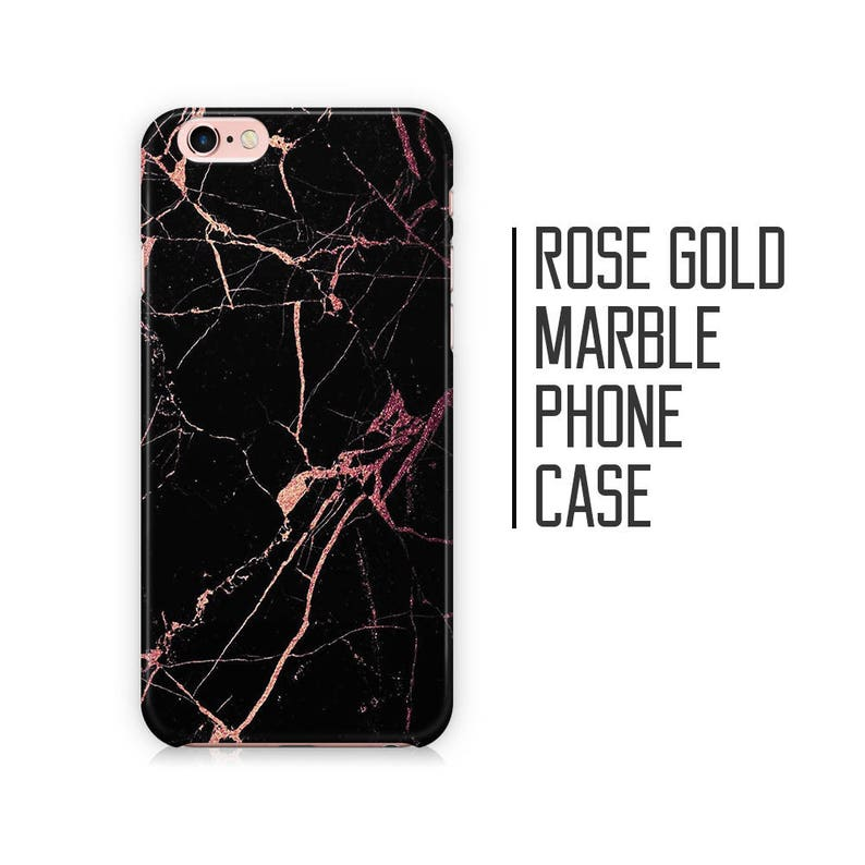 new arrival d03e9 bc16e Rose Gold Marble Phone Case for iPhone X XS Max XR 8 Plus 7 6 6s 5 5s 5c SE  + Samsung S6 S7 S8 9+ Black and Rose Gold