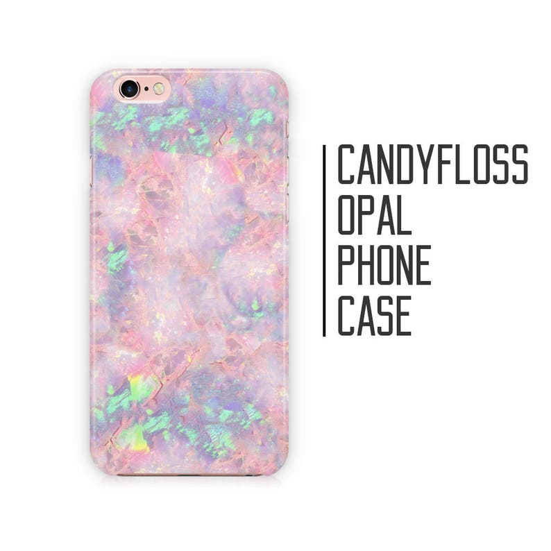 Candy Floss Opal Phone Case  Pink Opal Stone Marble for image 0