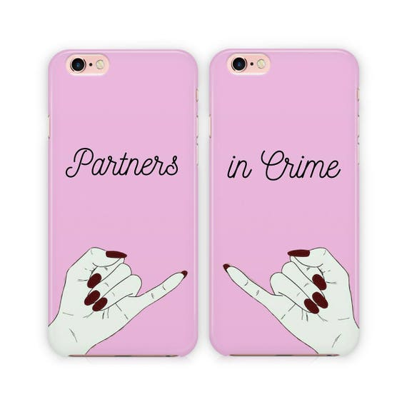 Partners In Crime Phone Case Best Friends Couple Case For Etsy